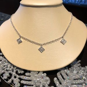 Charriol 18kt white gold and diamond necklace.